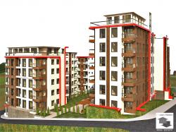 Studio set in a newly-built complex in Kartala district